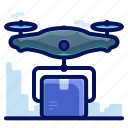 delivery, drone, parcel, shipment, shipping icon