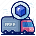 delivery, free, shipment, shipping, transport, truck icon