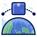 delivery, globa, international, shipment, shipping, transfer icon