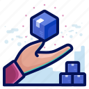 box, delivery, hand, package, shipment, shipping icon