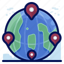 delivery, global, international, location, shipment, shipping, tracking icon