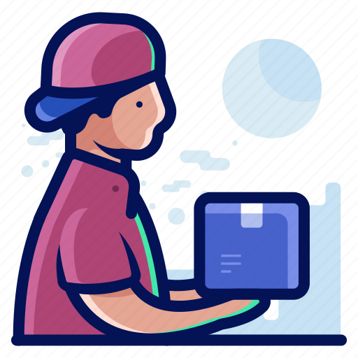 delivery, man, shipment, shipping icon
