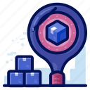 delivery, find, search, shipment, shipping icon