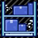 delivery, shelf, shipment, shipping, storage