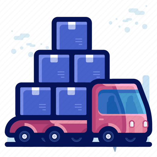 delivery, package, shipment, shipping, truck icon