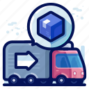 delivery, shipment, shipping, transport, truck, vehicle icon