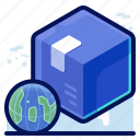 delivery, globa, international, shipment, shipping icon