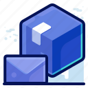 delivery, mail, message, package icon