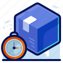 delivery, package, schedule, time icon