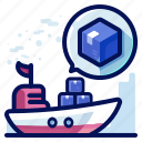 delivery, ship, shipment, shipping, transport icon