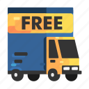 delivery, free, goods, shipping icon
