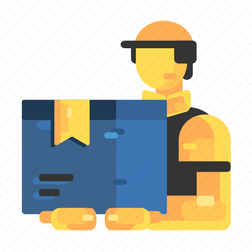 arrival, courier, delivery, hat, shipping, up icon