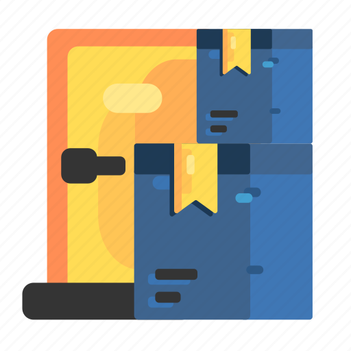 Arrived, door, item, stack, to icon - Download on Iconfinder