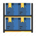 arrangement, boxes, goods, items, pile, stocks, warehouses icon