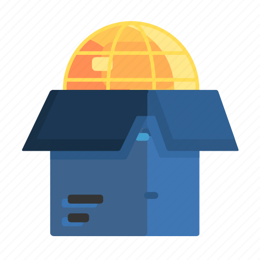 earth, export, import, outside, shipping icon