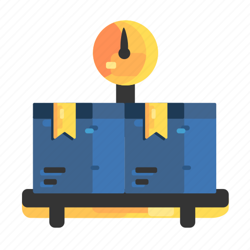 goods, scales, send, sent, weight icon