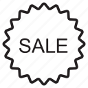 closeout, discount, online shop, sale, shopping, store icon