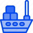 cargo, delivery, sea, ship, transport icon