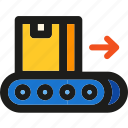 box, delivery, logistic, package, shipping, transport, trolley icon