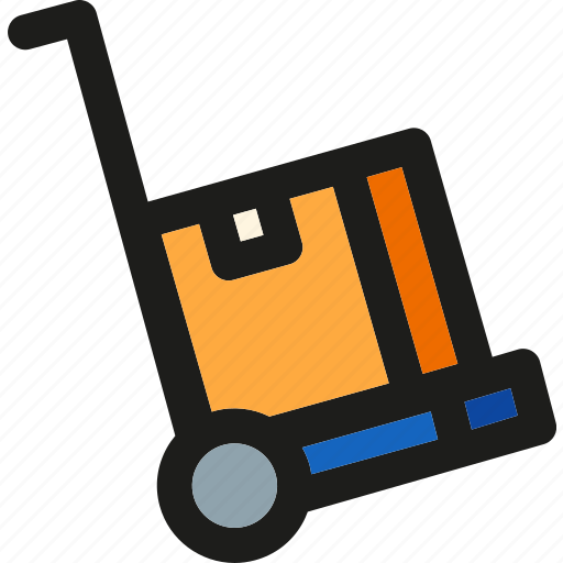 box, cart, delivery, package, shipping, transport, trolley icon