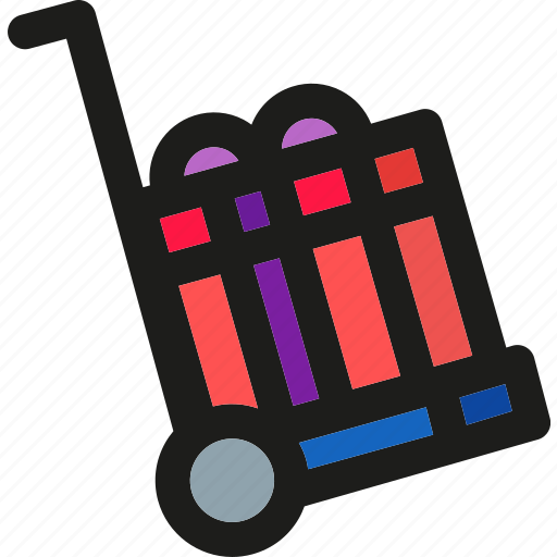 box, cart, delivery, gift, present, shopping, trolley icon