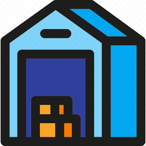 Warehouse, delivery, package, shipping, storage, storehouse, transport icon - Download on Iconfinder