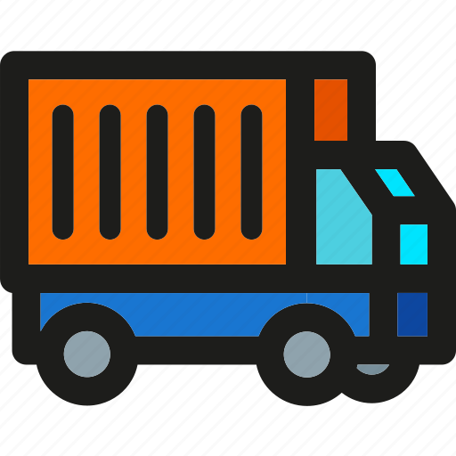 Truck, box, delivery, logistic, package, shipping, transport icon - Download on Iconfinder