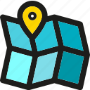 arrow, direction, location, map, navigation, pin, pointer icon
