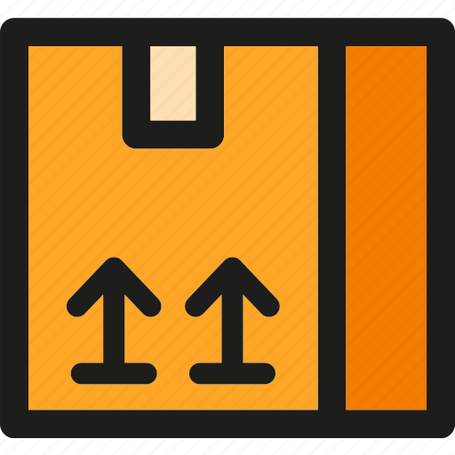 box, delivery, logistic, package, shipping, transport, up icon