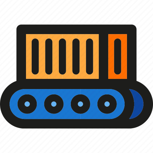 box, conveyor, delivery, logistic, package, shipping, transport icon