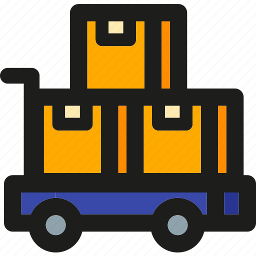 Packages, box, package, shipping, delivery, logistic, transport icon