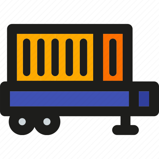 box, delivery, logistic, package, shipping, train, transport icon