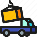 delivery, load, logistic, package, shipping, transport, truck icon