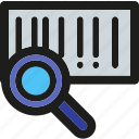 barcode, explore, find, magnifier, magnifying, scan, zoom icon
