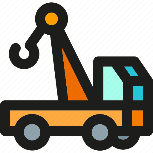 construction, crane, delivery, lift, shipping, transport, truck icon