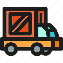 box, delivery, logistic, package, shipping, transport, truck icon