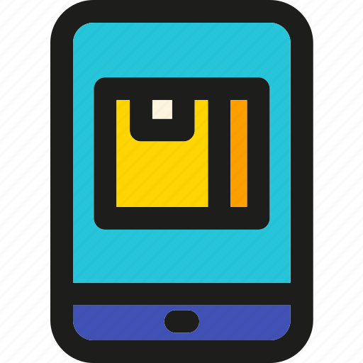 app, box, delivery, package, shipping, track, transport icon