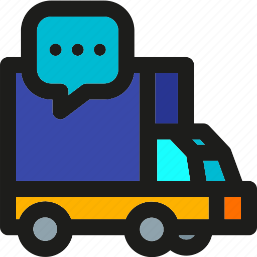 delivery, package, shipping, support, transport, truck icon