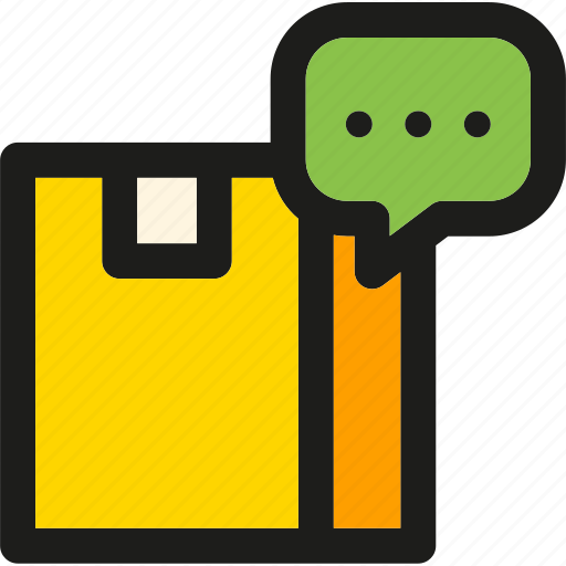 box, comment, delivery, package, shipping, support, transport icon