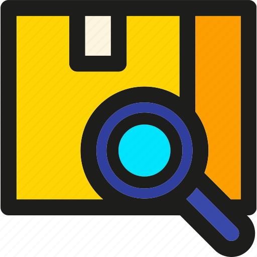 box, delivery, find, package, search, shipping, track icon