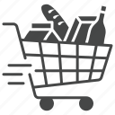 cart, delivery, food, home, meal, products