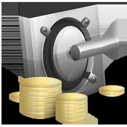 cash, lock, money, safe, vault, yuan icon