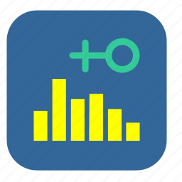 chart, demography, female, graph icon