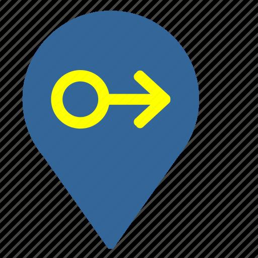 geo, man, map, pointer icon