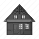 architecture, building, city, cottage, denmark, home, house icon