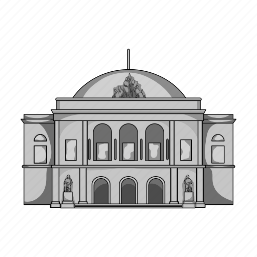 architecture, building, city, denmark, home, palace, theater icon