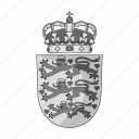 city, coat of arms, country, denmark, estate, sign icon