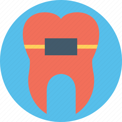 dental braces, dental care, dental health, dental improvement, orthodontic icon