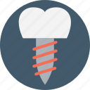 dental implant, dental procedure, dental treatment, oral surgery icon