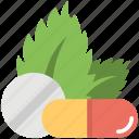 capsule, herbal, herbs, medicine, tablet icon